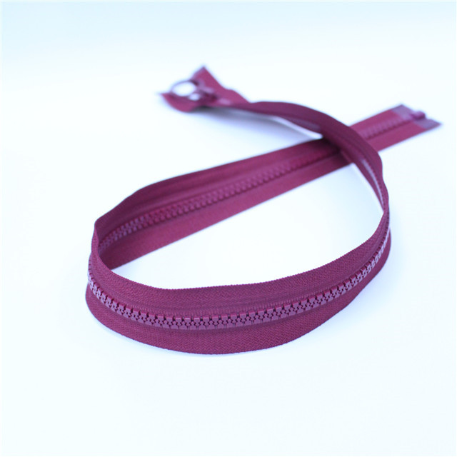 Wholesale No. 8 No. 5 No. 3 Resin Gum Tail Plastic Zipper Factory