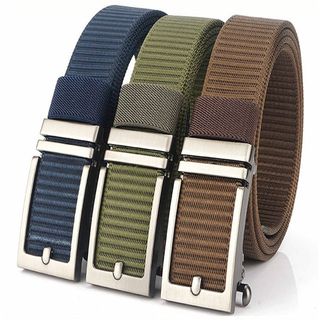 The New Men's Casual Inner Belt Custom Fake Buckle Automatic Belt Buckle Goes with Everything