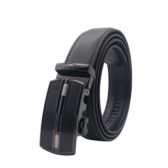 American Business Automatic Leather Cowhide Gift Belt Leather Belt for Men