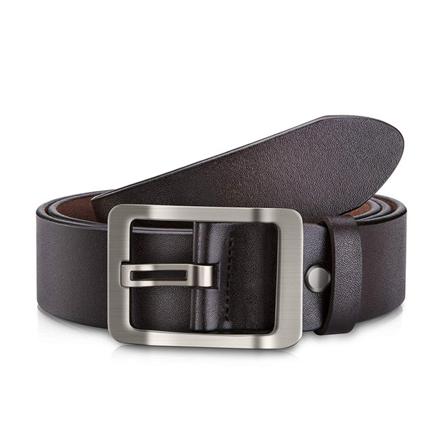 Manufacturers of Men's Leather Customized Leisure Hei Hei Cowhide Needle Buckle Belt with Gift Box Plant Tanned Real Leather Belt Body