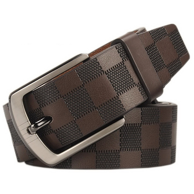 Manufacturers Wholesale Leather Belt Men's Classic Business Pin Buckle Cowhide Belt Customized Wholesale