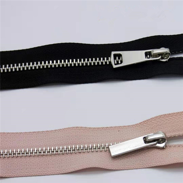 Custom Gold Black Nickel Metal Jeans Zipper Manufacturer with Auto Lock Slider