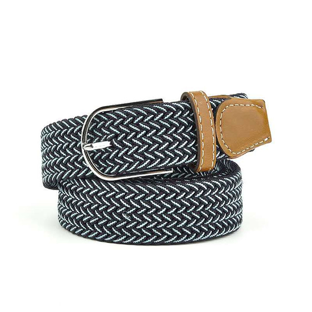 Popular Custom Men Western Elastic Stretch Braided Mens Waist Belt