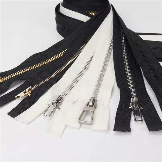 Factory High Quality Usually Custom Bag Gold Metal Zipper with Special Slider
