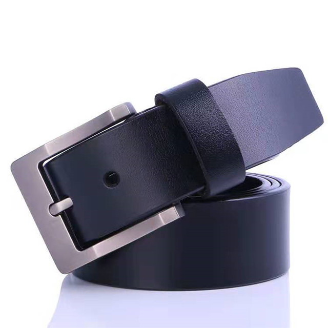 LY150929 Good Quality Cow Hide Belt With Alloy Buckle leather belt for men