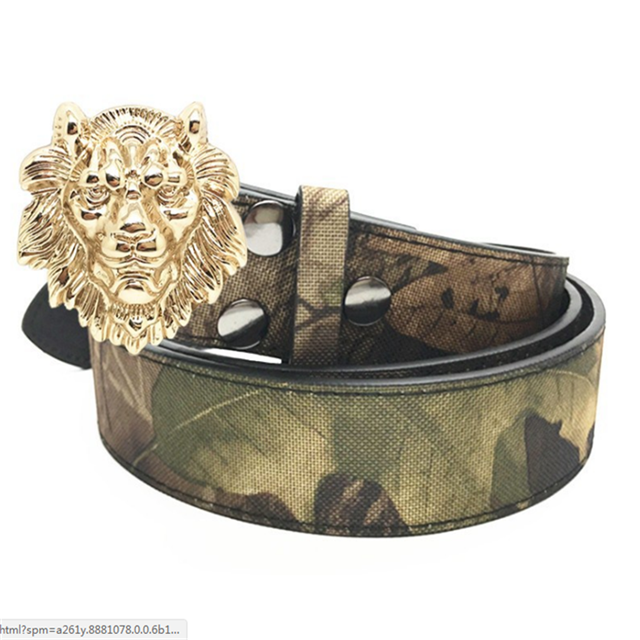 Lion Head Design 4cm Inner Size 2019 Belt Buckle for Gentlemen Engraved custom Logo Accepted