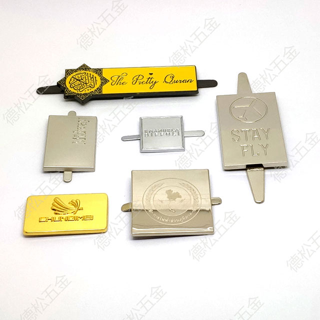 Good Quality Custom Handbag Metal Label OEM Brand Logo Tag
