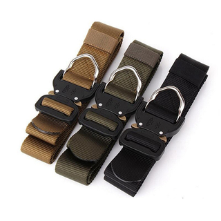 Wholesale Quick Release Security Police Duty Nylon Military Uniform Belt Outdoor Army Tactical Belt with Cobra Buckle