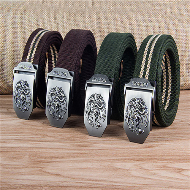 Custom Cotton Canvas Belt Outdoor Military Alloy Buckle Woven Weaving Fabric Men's Belt Wholesale Factory