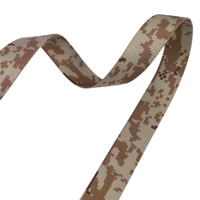 Camouflage Belt Factory Direct Imitation Nylon Thermal Transfer Tactical Ribbon Custom Clothing Accessories Factory Wholesale
