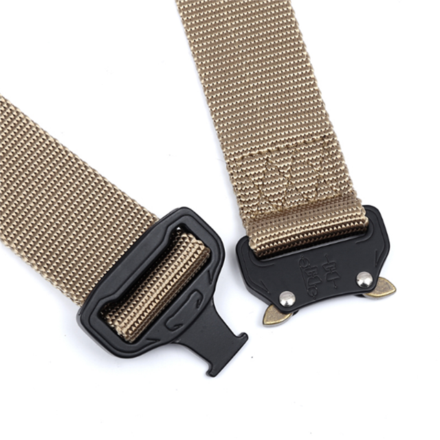 Military Tactical Belt Outdoor Zinc Alloy Buckle Adjustable Outside Durability Training Straps Men Women Emergency Survival
