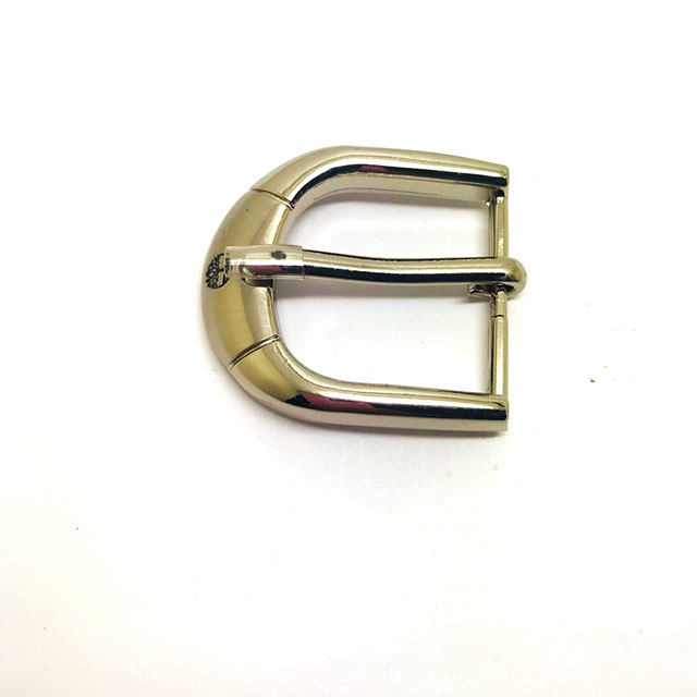 Brand Simple Custom Zinc Alloy Belt Pin Buckle With Laser Logo