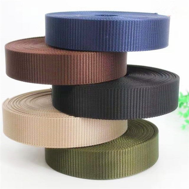 Factory Direct Sales 38mm Wide Polyester Imitation Nylon Tank Pattern Webbing Military Belt Bags Shoes And Hat Decoration Accessories