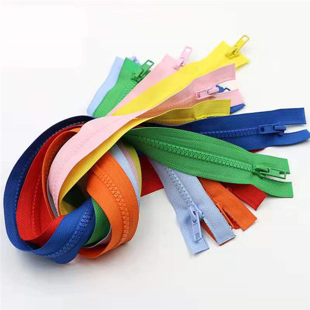 Garment Accessories Colorful Custom Zipper Resin with Metal Puller