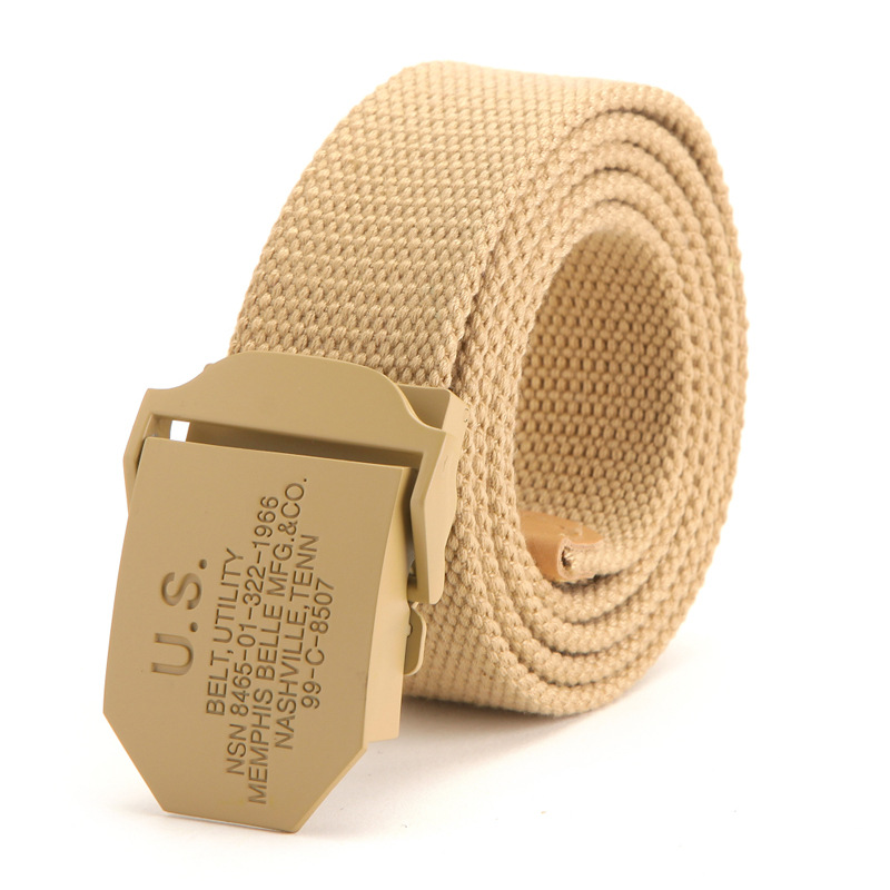 Canvas Buckle Belt Fashion Mens Online Military Leather Belt Wholesale