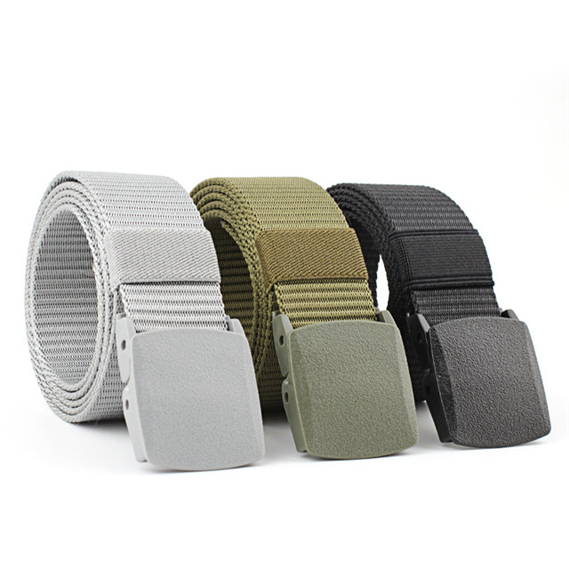 Plastic Buckle Nylon Tactical Belt for Men And Women Fashion Custom Logo Belt Manufacturers Military