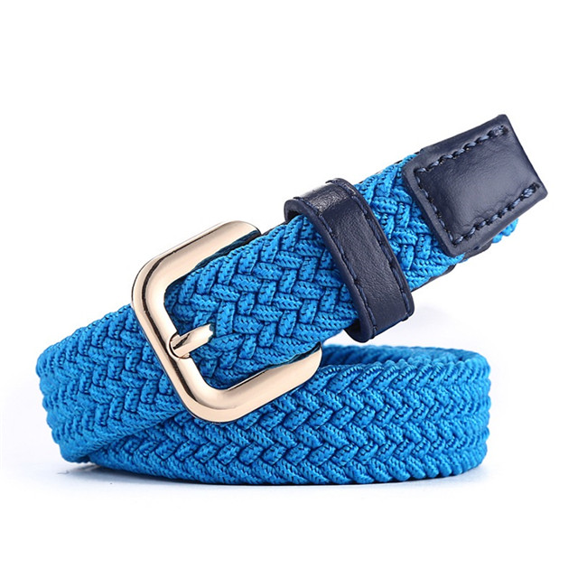 Custom Logo Fashion Women's Elastic Belt Skinny Jean for Men Colorful Belt Wholesale