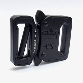 Hot Design Black 1.5 Inches Alloy Metal Tactical Belt Cobra Military Quick Release Buckle